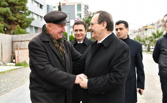 Başkan Şahin'den Atakum'da esnaf turu