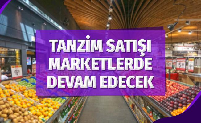 Bakan Pakdemirli Marketlerde Tanzim Satış Müjdesi Verdi