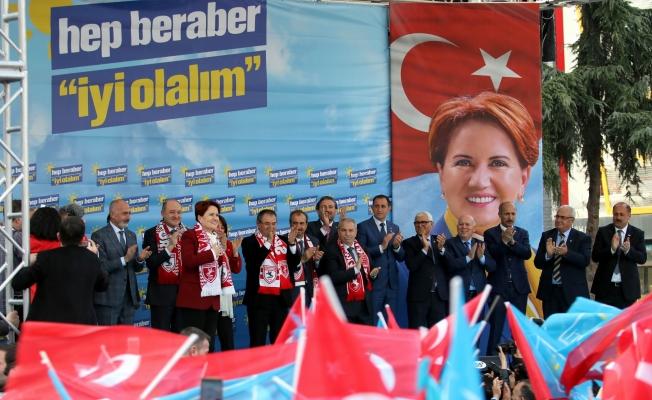 İYİ Parti Genel Başkanı Meral Akşener, Samsun'da