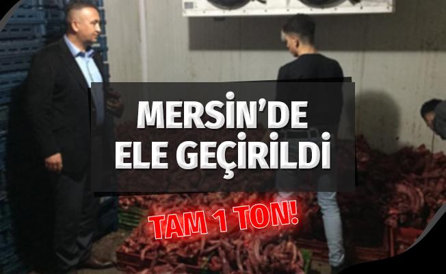 Mersin'de Tam 1 Ton Kaçak Kesilmiş Tavuk Yakalandı