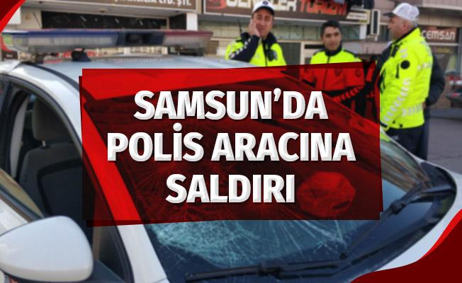 Polis Aracının Camını Kırdı, Annesi Bastonla Saldırdı