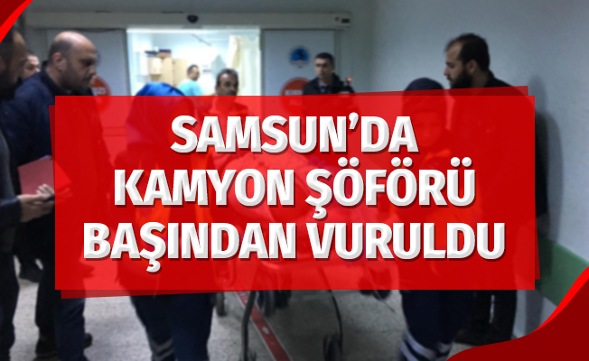 Samsun'da Kamyon Şöförü Başından Vuruldu