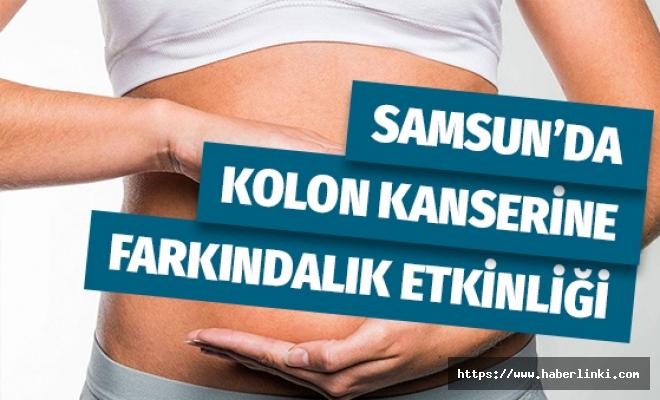 Samsun'da Kolon Kanserine Farkındalık Etkinliği