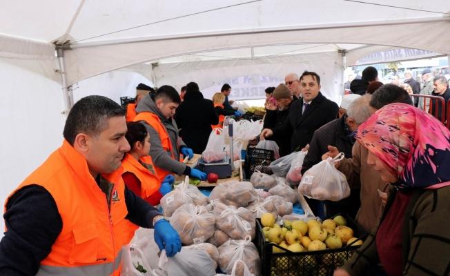Samsun'da tanzimde ilk gün 11 ton ürün satıldı