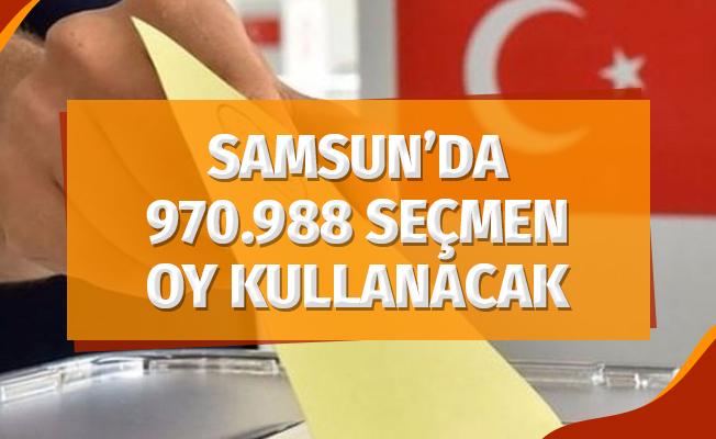 Samsun'da 970.988 Seçmen Oy Kullanacak