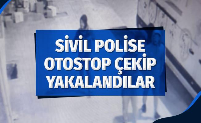Sivil Polise Otostop Çekip Yakalandılar