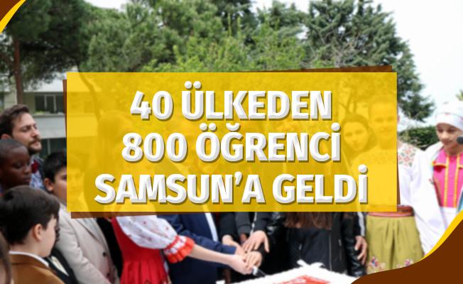 40 Ülkeden 800 Öğrenci 23 Nisan İçin Samsun'a Geldi