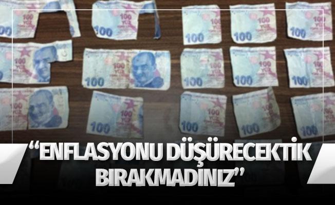 ATM'ye sahte para yatırarak, enflasyonu düşürecekmiş