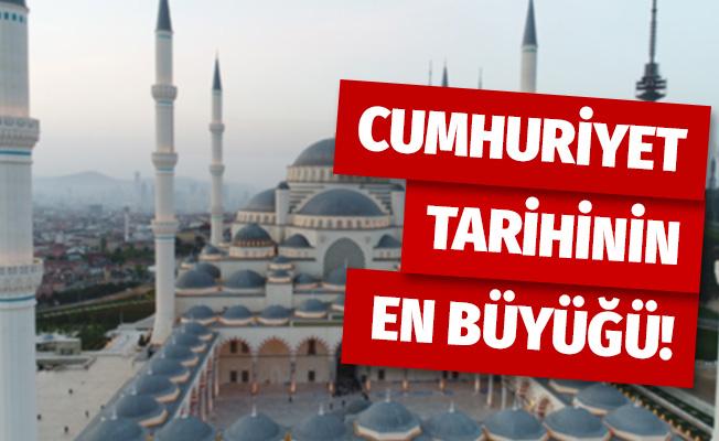 Cuma günü resmi açılışı yapılacak Çamlıca Cami'inin son hali havadan görüntülendi