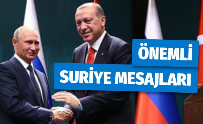 Cumhurbaşkanı Erdoğan ve Putin'den Önemli Suriye Mesajları
