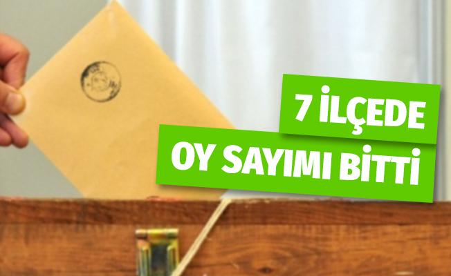 İstanbul'un 7 İlçesinde Oy Sayımı Bitti
