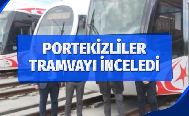 Portekizliler Samsun'da Tramvay İnceledi
