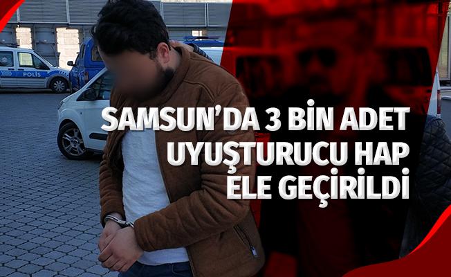 Samsun'da 2 Bin 942 Adet Uyuşturucu Hap Ele Geçirildi: 2 Gözaltı
