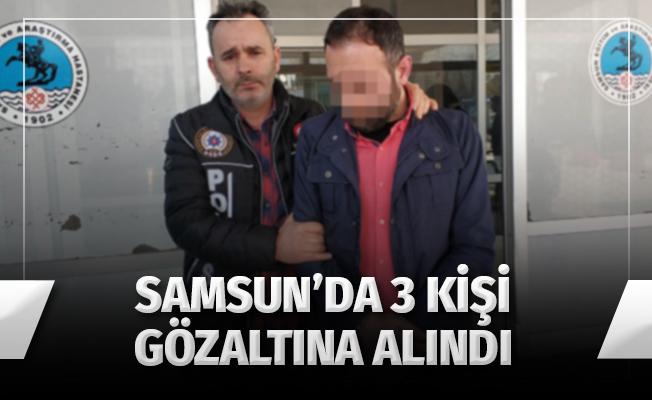 Samsun'da Uyuşturucu Operasyonunda 3 Gözaltı