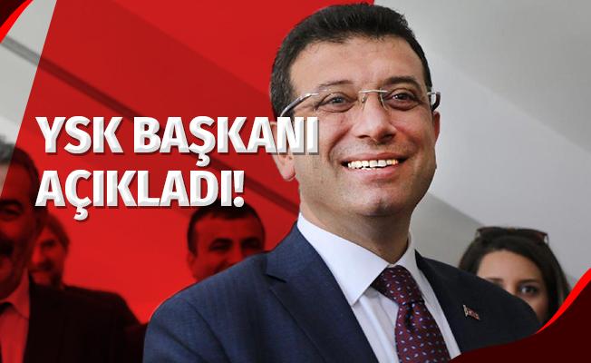 YSK Başkanı Açıkladı! İstanbul Seçim Sonuçlarında Ekrem İmamoğlu Önde