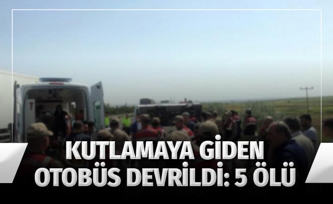 1 Mayıs kutlamalarına giden işçileri taşıyan otobüs devrildi: 5 ölü, 14 yaralı