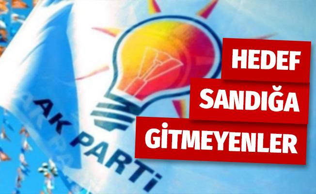 AK Parti'de hedef sandığa gitmeyen seçmenler