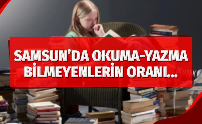 Samsun'da okuma-yazma bilmeyenlerin oranı yüzde 2,4