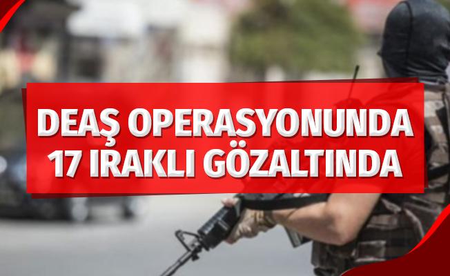 Samsun'da DEAŞ operasyonu: 17 Iraklıya gözaltı