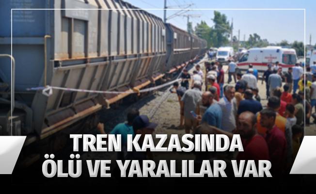 Mersin'de tren kazası: 1 ölü, 4 yaralı
