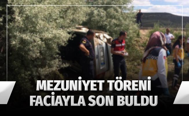 Mezuniyetten dönen otomobil takla attı: 4 ölü, 1 yaralı