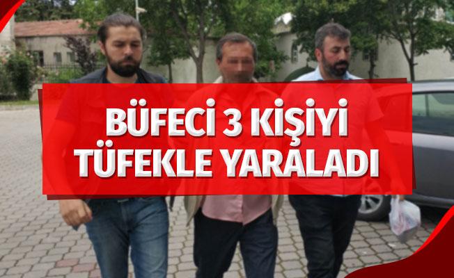 Samsun'da 3 kişiyi tabancayla yaralayan büfeci adliyeye sevk edildi