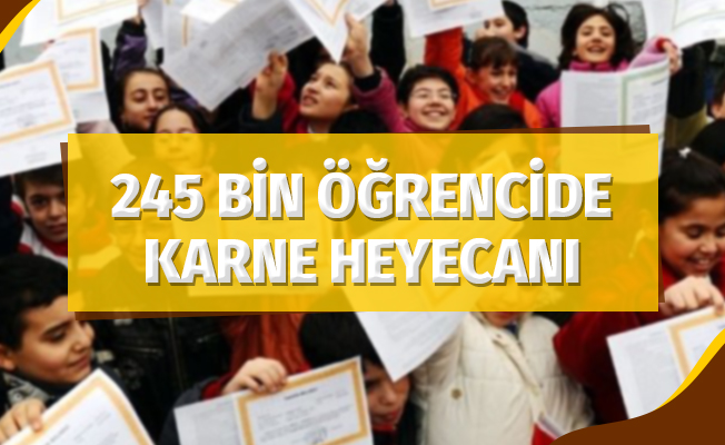 Samsun'da 245 bin öğrenci karne heyecanı yaşayacak
