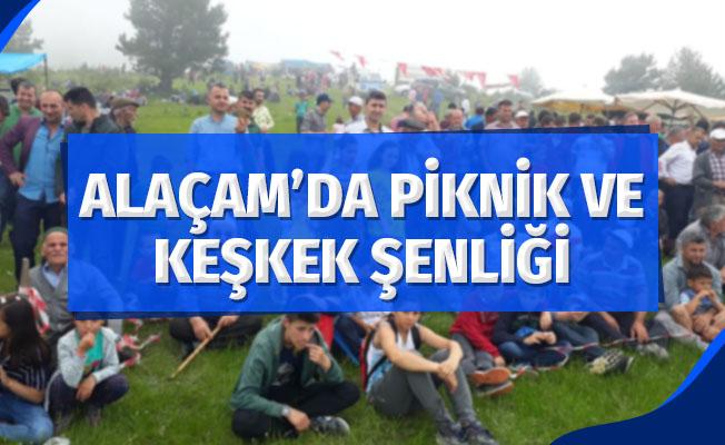 Samsun'un Alaçam ilçesinde piknik ve keşkek şenliği yapıldı.