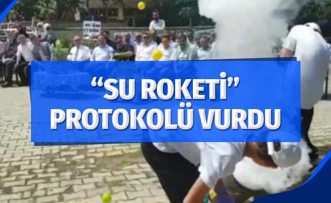 """""""Su Roketi"""" protokolü vurdu"""