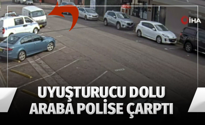 200 milyon dolarlık uyuşturucuyla polis aracına çarptı