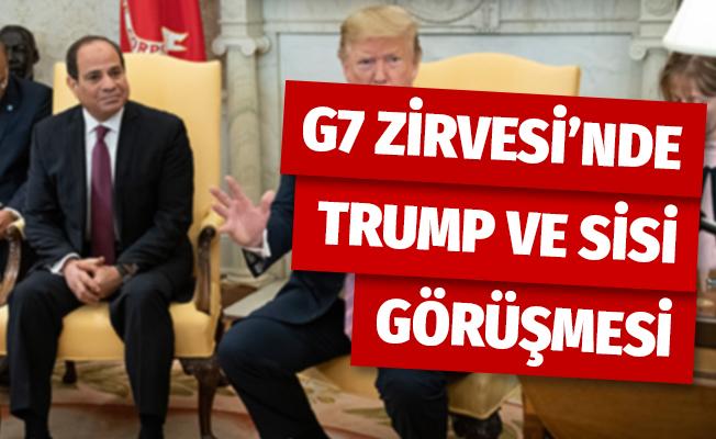 G7 Zirvesi'nde Trump- Sisi görüşmesi