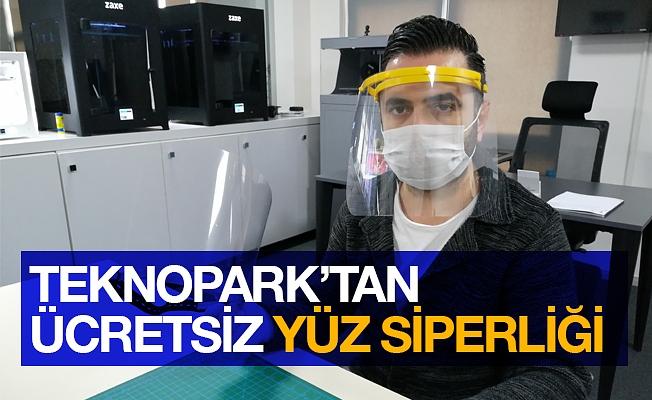 Teknopark'tan sağlık çalışanlarına ücretsiz yüz siperliği