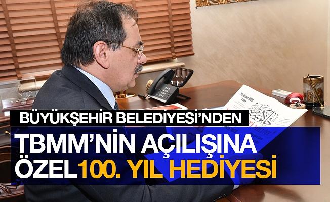 """Büyükşehir'den TBMM'nin açılışının 100. yılı için çok özel bir armağan: """"Hakimiyet-i Milliye"""""""