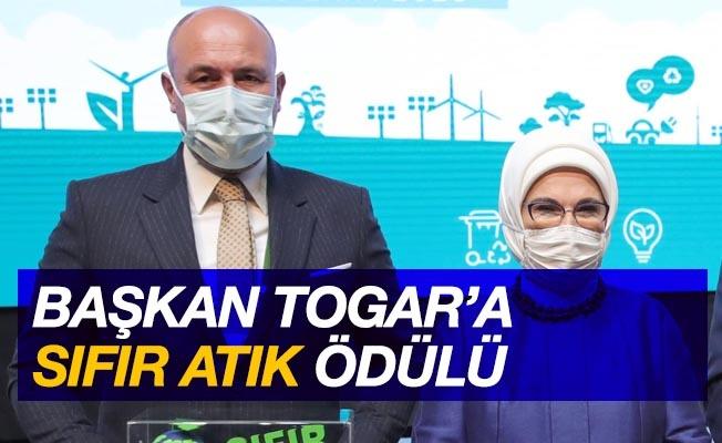 Başkan Togar'a 'Sıfır Atık' ödülü