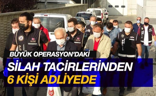 Cephanelik gibi silah operasyonunda 6 kişi adliyeye sevk edildi