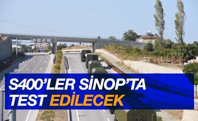 Türk S400 hava savunma sistemleri Sinop'ta test edilecek