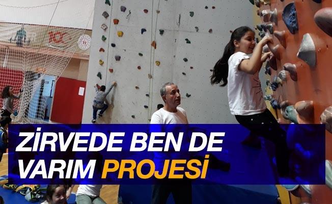 """""""Zirvede Ben de Varım Projesi"""" ile milli sporcular yetiştiriliyor"""