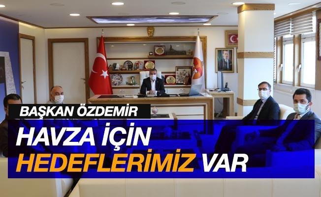 """Başkan Özdemir: """"Havza için hedeflerimiz var"""""""