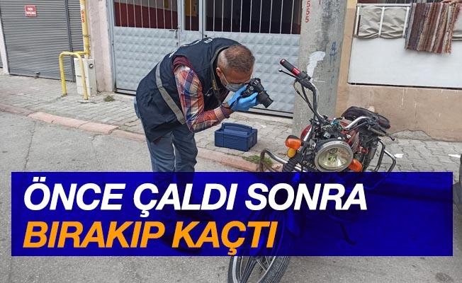 Çalıntı motosiklet terk edilmiş vaziyette bulundu