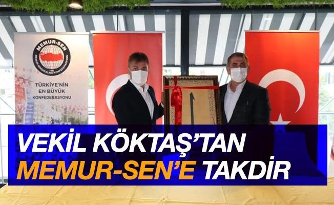 Milletvekili Köktaş'tan Samsun Memur-Sen'e takdir