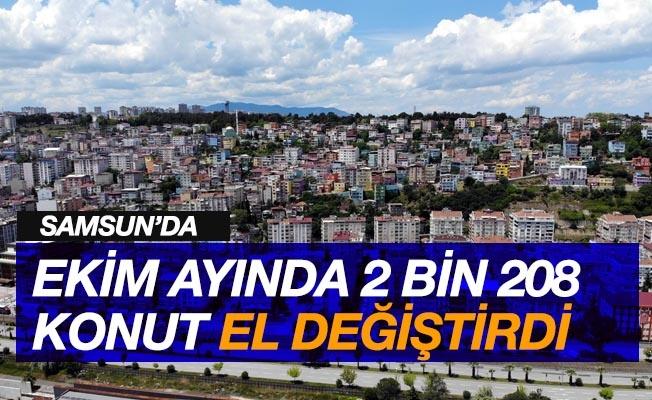 Samsun'da ekimde 2 bin 208 konut el değiştirdi