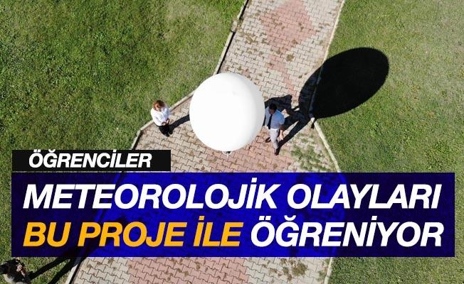 Samsun'da öğrenciler meteorolojik olayları bu proje ile öğreniyor