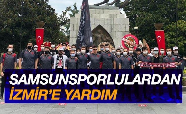 Samsunsporlu taraftarlardan İzmir'e yardım kampanyası