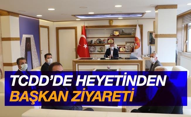 TCDD heyeti Havza Belediye Başkanı Özdemir'i ziyaret etti