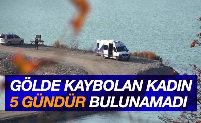 Baraj gölünde kaybolan kadın 5. günde de bulunamadı