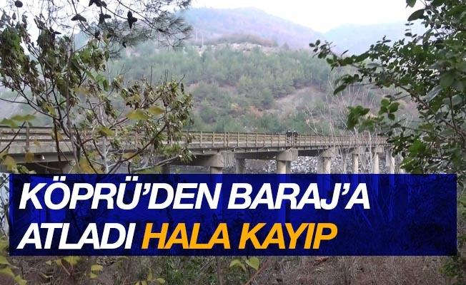 Köprüden baraj gölüne atlayan kadını arama çalışmaları sürüyor