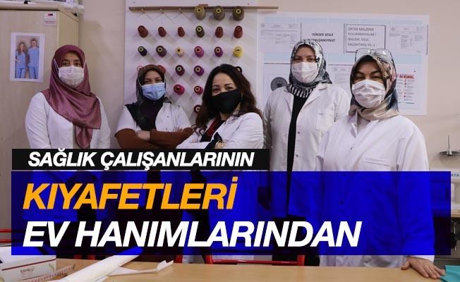 Sağlık çalışanlarının kıyafetleri ev hanımlarından