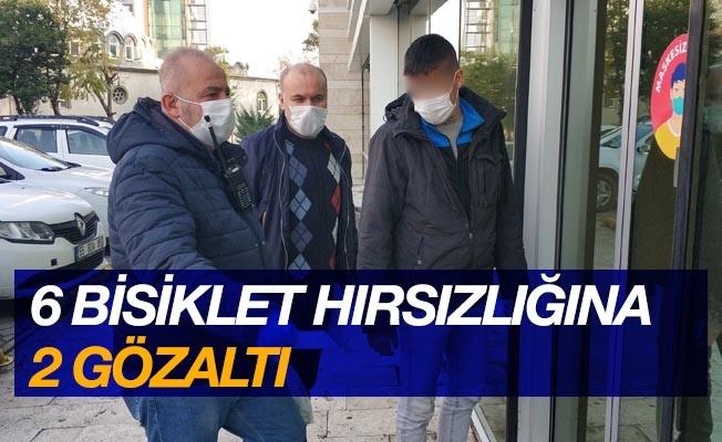 Samsun'da 6 bisiklet hırsızlığına 2 gözaltı