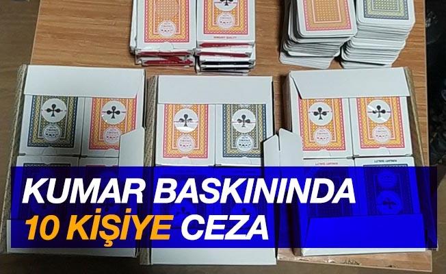 Samsun'da kumar baskınında 10 kişiye 3 bin 150'şer lira ceza yazıldı