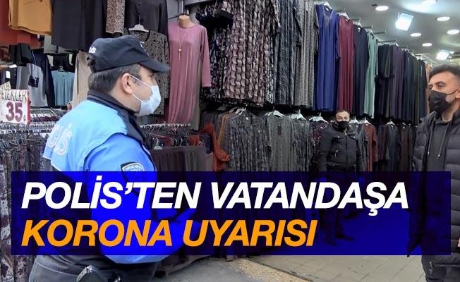 Samsun'da polisten vatandaşa korona uyarısı